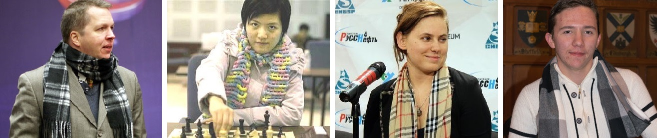 chess players in scarves