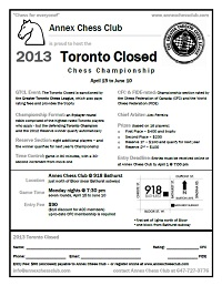 2013 toronto closed flyer