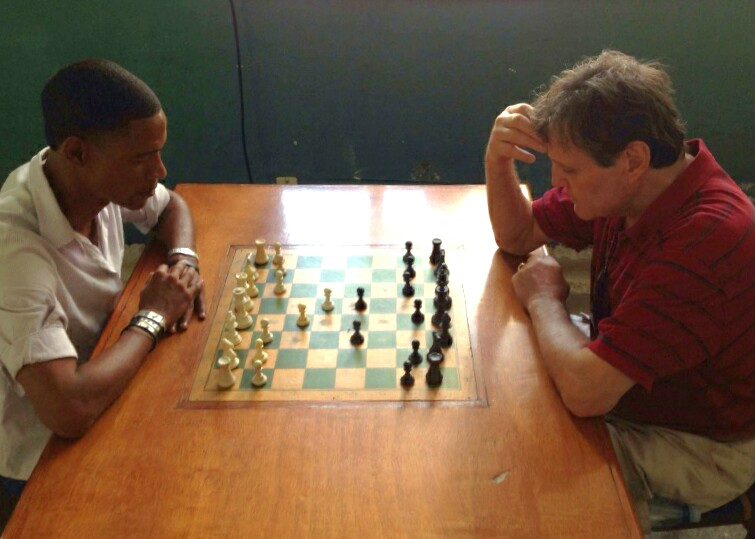 Ted Winick plays chess at Capablanca Chess Club Havana Cuba, Dec. 30, 2013
