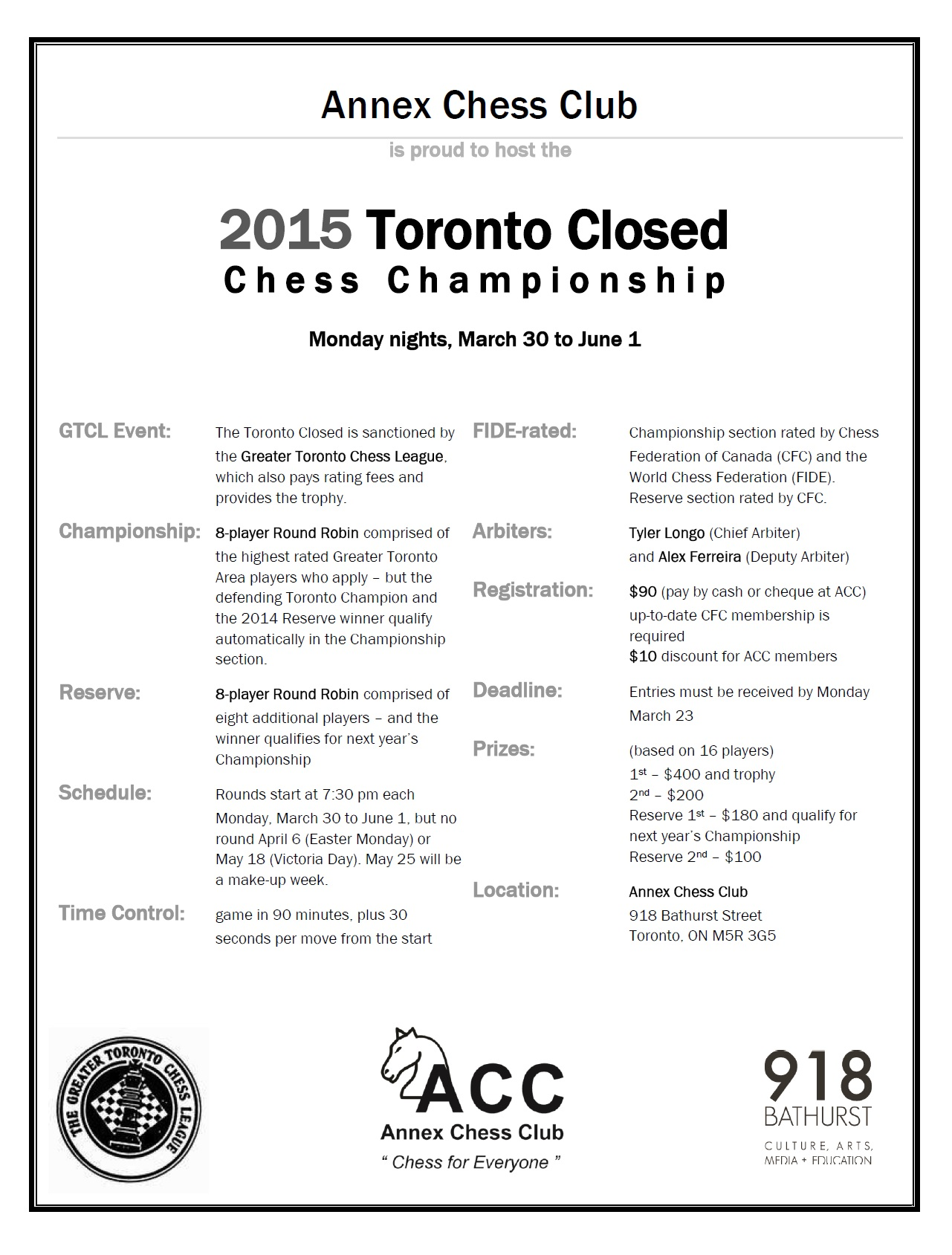 2015 Toronto Closed Flyer