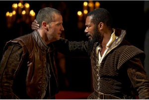 Graham Abbey as Iago and Dion Johnstone as Othello in the 2013 Stratford Festival production of Othello